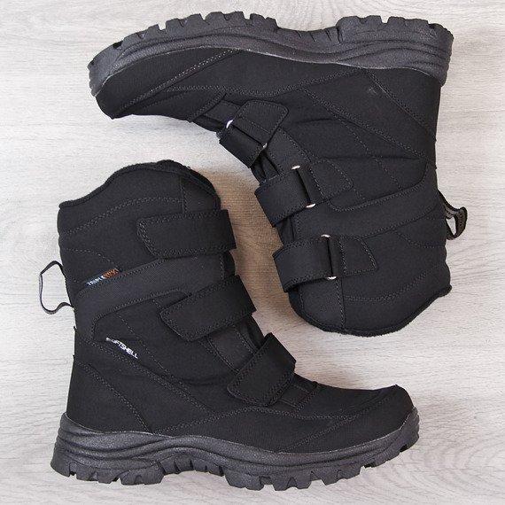 Śniegowce trekkingowe wodoodporne czarne American Club