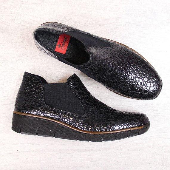 Sztyblety damskie ocieplane czarne Rieker 53790-45