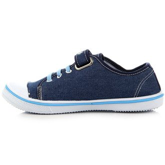 Tenisówki dziewczęce jeansowe niebieskie Hasby