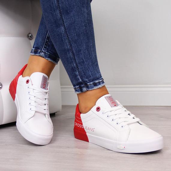 Trampki damskie niskie białe Cross Jeans