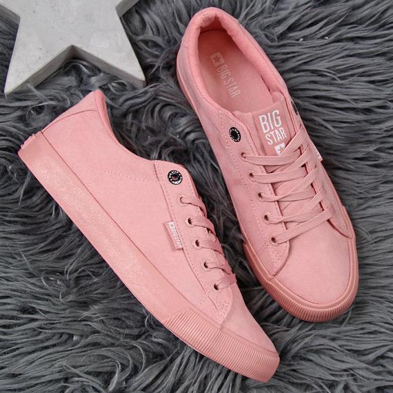 Trampki damskie niskie różowe Big Star EE274047