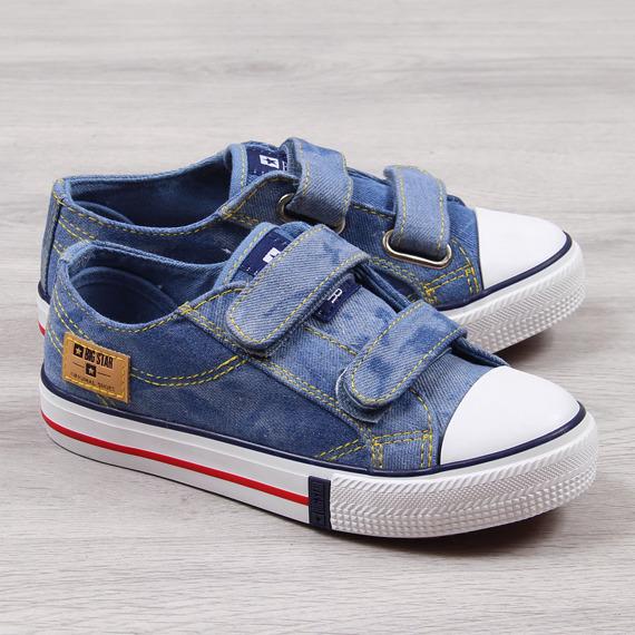 Trampki dziecięce na rzep jeansowe Big Star