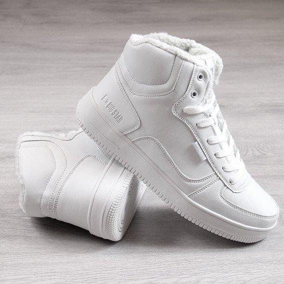 Buty sportowe męskie ocieplane białe Big Star BB174205