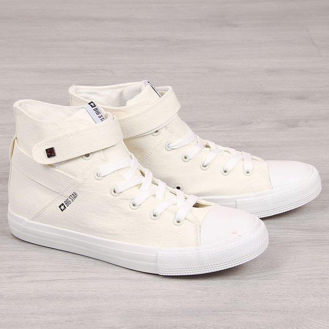 Trampki męskie tekstylne białe Big Star FF174140