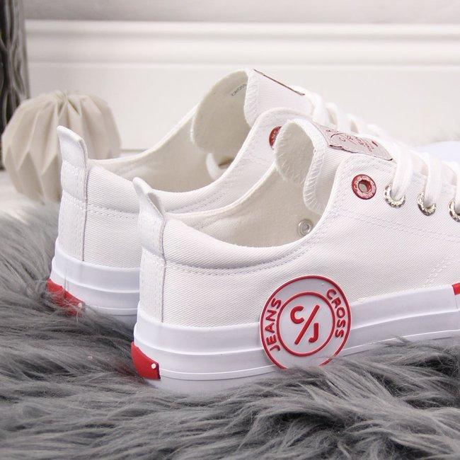 Trampki niskie tekstylne białe Cross Jeans FF2R4072C