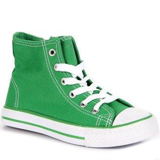 Zielone trampki dziecięce Wishot