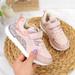 Buty sportowe dziewczęce na rzep różowe American Club